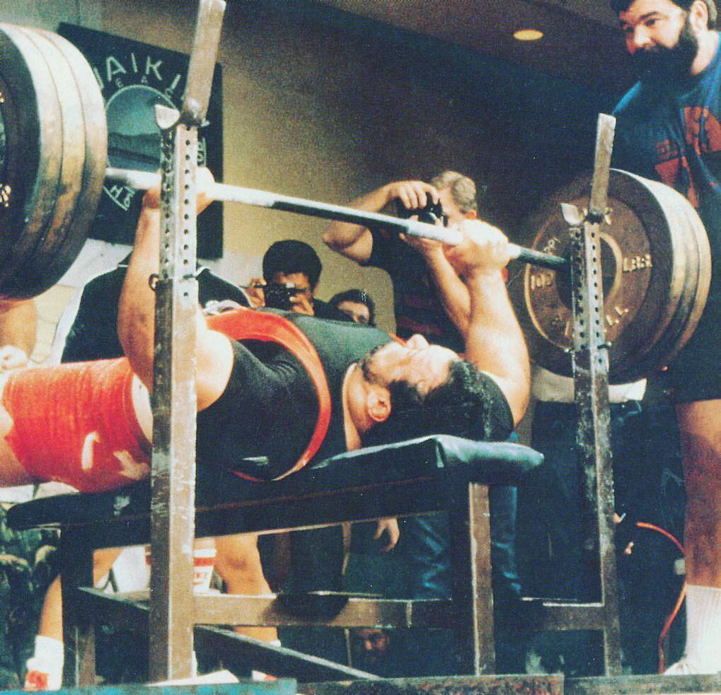 Charming Ted Arcidi Bench Press Part - 8: It Wasnu0027t Until 1984, Nearly 20 Years Later, Until The Next Milestone, 650  Lbs, Would Be Broken. Ted Arcidi Benched 666.9 Lbs (303 Kgs) Without Wrist  Wraps ...